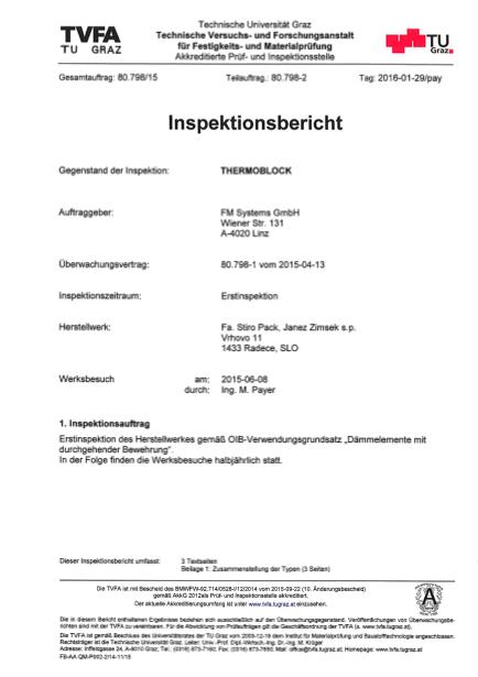 Inšpekcijsko poročilo